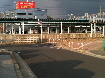 地震直後の君津駅〜iphoneで